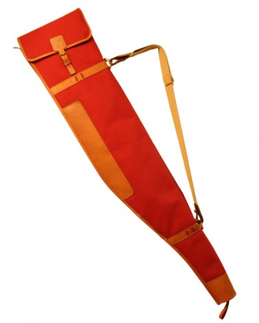 """Aneas: For hunting """"HIGHT SEAT"""" RIFLE SLEEVE - CANVAS & LEATHER"""