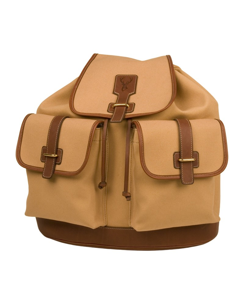 Aneas: For hunting BASE FORMED BACK PACK - CANVAS & LEATHER