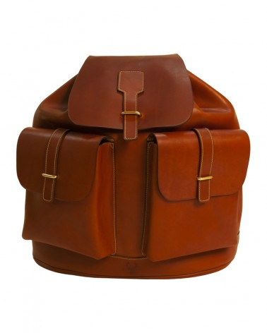 Aneas : chasse LE SAC A DOS FOND FORME - CUIR