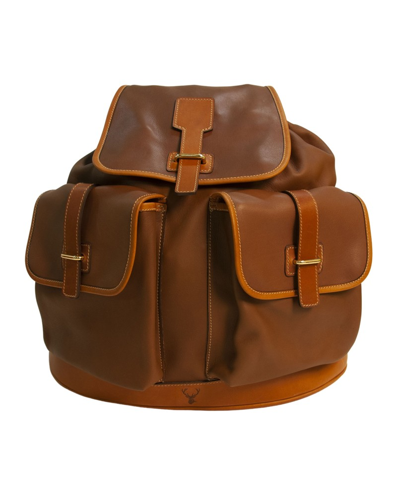 Aneas: For hunting BASE FORMED BACK PACK - LEATHER