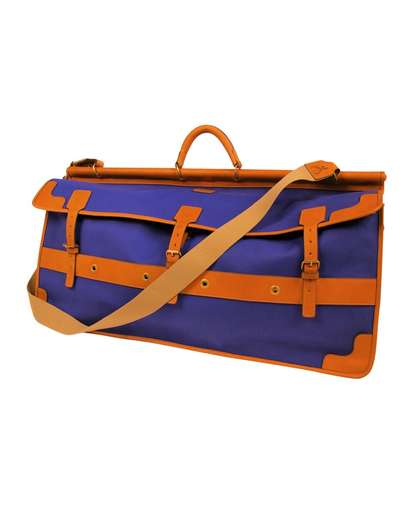 Aneas: Bags and Baggage THREE GUSSETED HUNTING BAG - CANVAS & LEATHER