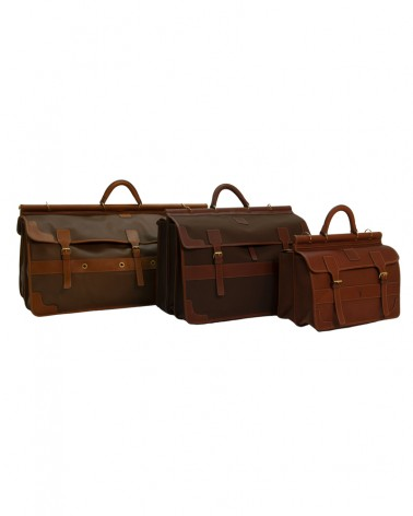 Aneas: Bags and Baggage THREE GUSSETED HUNTING BAG - LEATHER