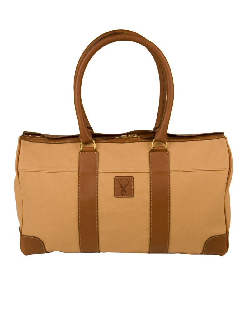 Aneas : Les sacs de voyage LE SAC CABAS ZIPPE - TOILE & CUIR