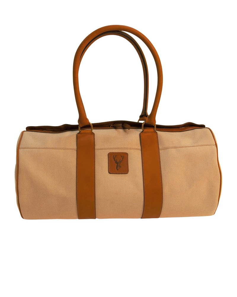 Aneas: For travelling 48H DUFFLE BAG - CANVAS & LEATHER